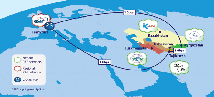 . CAREN project brings Gigabit-speed connectivity to Central Asia*