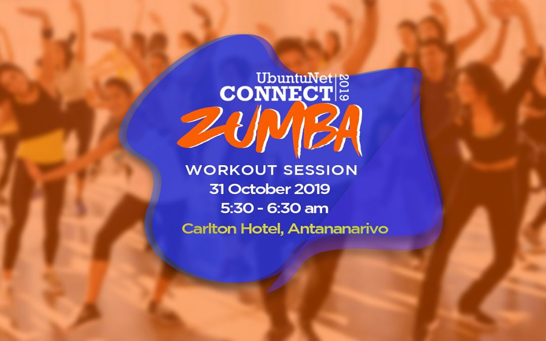 Zumba session at UbuntuNet-Connect 2019, bring your costume!