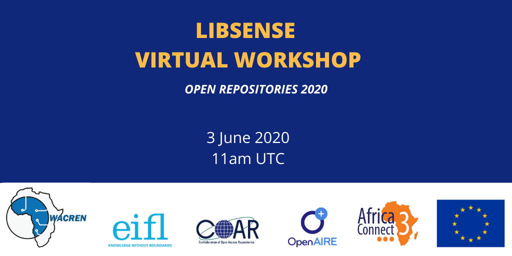 Register for the LIBSENSE Virtual Workshop, 3 June 2020