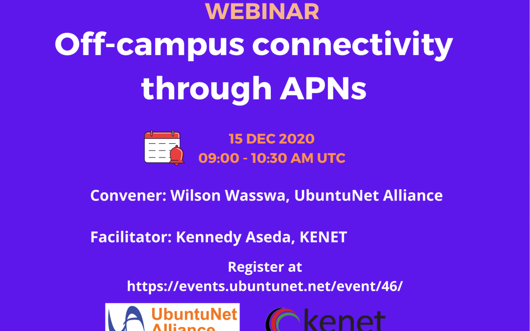 Register for the Off-Campus Connectivity through APNs Webinar